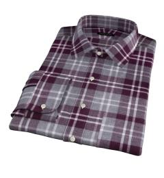 Scarlet and Cinder Large Plaid Flannel Custom Made Shirt