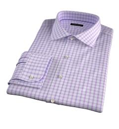 Essex Lavender Multi Check Custom Made Shirt