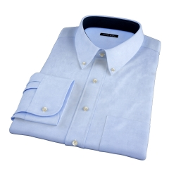 Light Blue Heavy Oxford Fitted Dress Shirt
