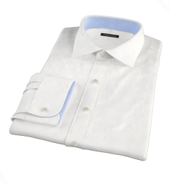 Thomas Mason White Luxury Broadcloth Custom Dress Shirt