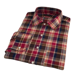 Dorado Orange Plaid Custom Made Shirt