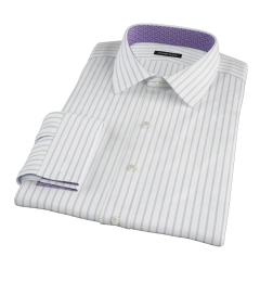 Blue Wide Stripe Custom Dress Shirt