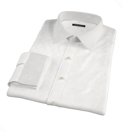 White Stretch Broadcloth Custom Made Shirt