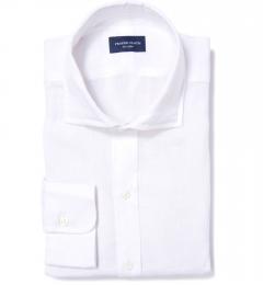 Canclini White Linen Custom Made Shirt