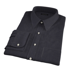 Albiate Grey Crosshatch Melange Fitted Dress Shirt