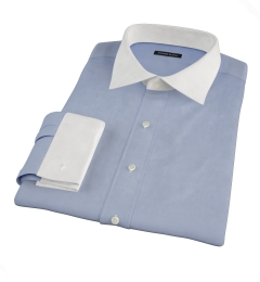 Canclini Blue Fine Twill Tailor Made Shirt