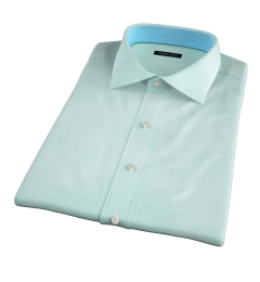 Genova 100s Mint End-on-End Short Sleeve Shirt
