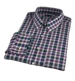 Vincent Pine and Violet Plaid Custom Dress Shirt
