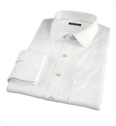 Crosby White Wrinkle-Resistant Twill Men's Dress Shirt