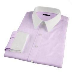 Thomas Mason Goldline Lavender Fine Twill Dress Shirt