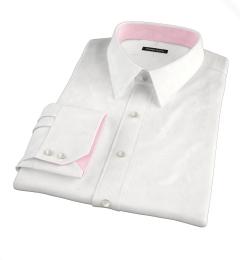 Thomas Mason White Luxury Broadcloth Fitted Shirt