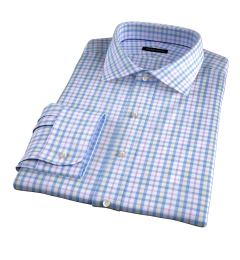 Siena Blue Yellow and Red Multi Check Fitted Dress Shirt