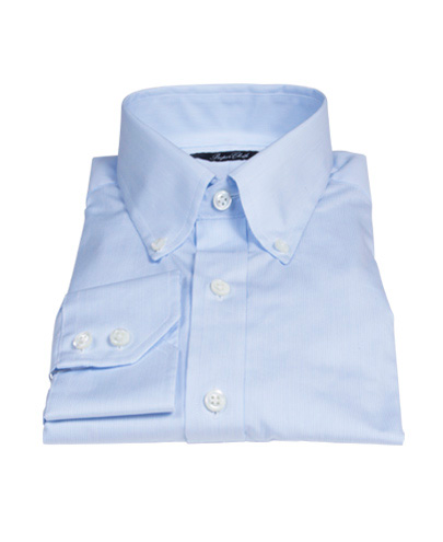 Canclini Light Blue Fine Stripe Fitted Shirt