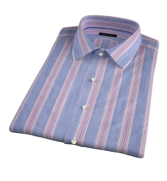 Albini Santa Fe Stripe Short Sleeve Shirt