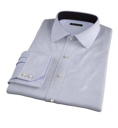 Carmine Grey Horizontal Stripe Custom Made Shirt