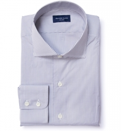 Canclini Grey Mini Gingham Custom Dress Shirt