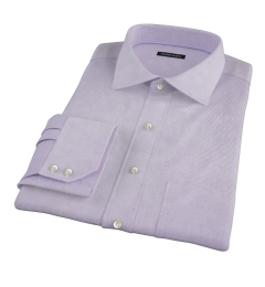 Carmine Lavender Mini Grid Men's Dress Shirt