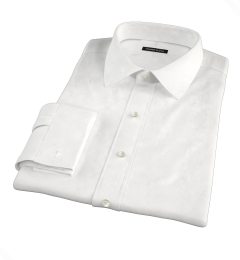 Thomas Mason White WR Imperial Twill Tailor Made Shirt