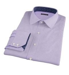 Carmine Lavender Pencil Stipe Custom Made Shirt