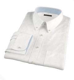 White Jacquard Weave Dress Shirt