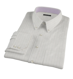 Lavender Grey Dobby Stripe Tailor Made Shirt