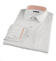 Canclini Peached White Stretch Twill Dress Shirt