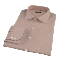 Canclini Chestnut Oxford Flannel Tailor Made Shirt