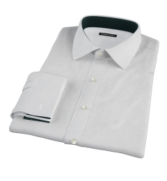 Canclini White Imperial Basketweave Fitted Shirt