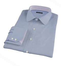 Canclini Blue Fine Twill Men's Dress Shirt