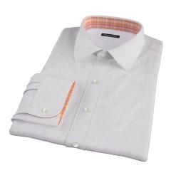 Carmine Purple Fine Stripe Custom Made Shirt