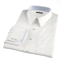 Thomas Mason White WR Imperial Twill Custom Dress Shirt
