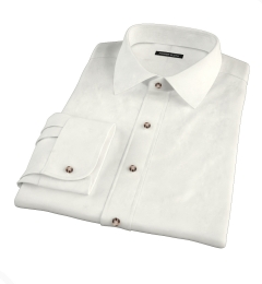 Canclini Cream Beacon Flannel Tailor Made Shirt