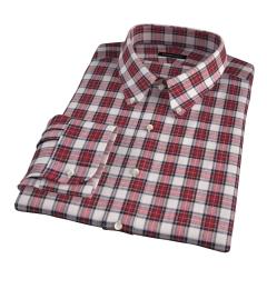 Japanese Red Donegal Tartan Custom Dress Shirt