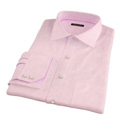 Morris Pink Wrinkle-Resistant Houndstooth Custom Dress Shirt