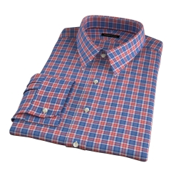 Sullivan Orange Melange Check Custom Made Shirt