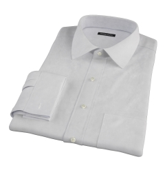 Bowery Light Grey Pinpoint Fitted Dress Shirt