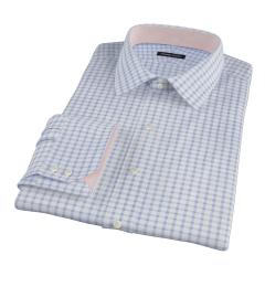 Thomas Mason Dark Blue Grid Tailor Made Shirt