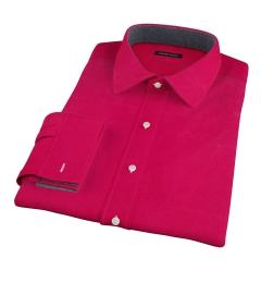 Crimson Red Heavy Oxford Men's Dress Shirt
