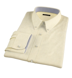 Bowery Yellow Wrinkle-Resistant Pinpoint Custom Dress Shirt