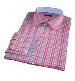 Amalfi Hibiscus and Blue Multi Check Dress Shirt