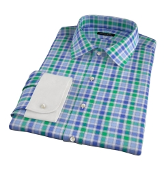 Green Large Multi Check Tailor Made Shirt