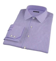 Canclini Purple 120s Multi Gingham Men's Dress Shirt