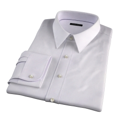 Modena Aqua and Apricot Tattersall Fitted Dress Shirt