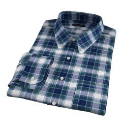 Warren Green Large Plaid Men's Dress Shirt
