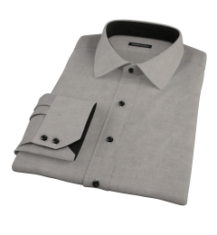 Black Heavy Oxford Cloth Fitted Shirt