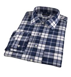 Canclini Slate Plaid Beacon Flannel Tailor Made Shirt