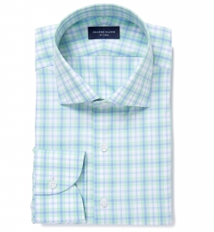 Siena Mint and Light Blue Multi Check Tailor Made Shirt