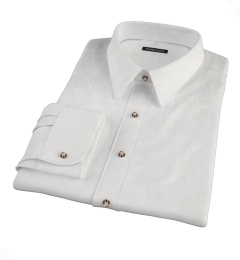 Thomas Mason White Twill Fitted Dress Shirt