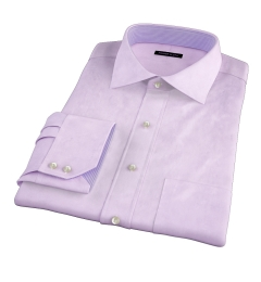 Lavender 80s Broadcloth Dress Shirt