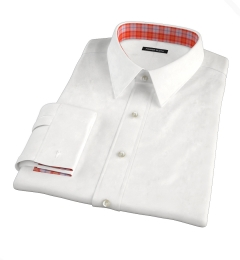 Hudson White Wrinkle-Resistant Twill Custom Dress Shirt